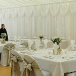 Wedding Marquee set up